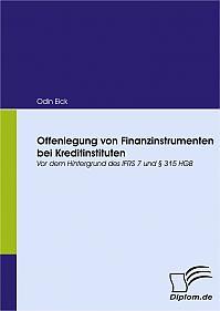 Offenlegung von Finanzinstrumenten bei Kreditinstituten